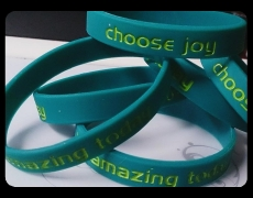 3rd June 2015: joyful reminder wristbands